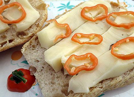 Frische Habbis auf Käsebrot.... mmhhhhh!