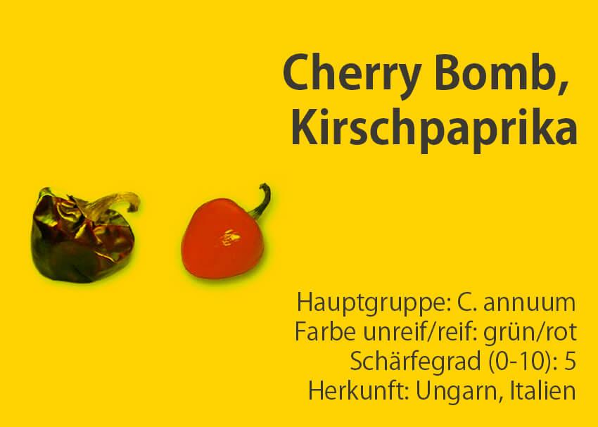 Cherry Bomb, Kirschpaprika </br> Chili-Sorte