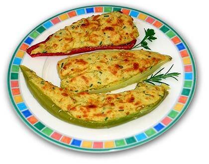 Chiles con patatas y queso