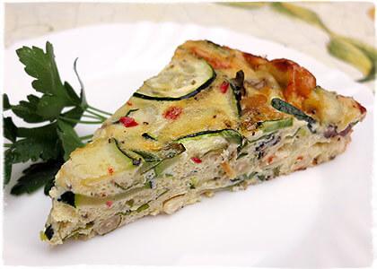 Zucchini-Frittata pikant