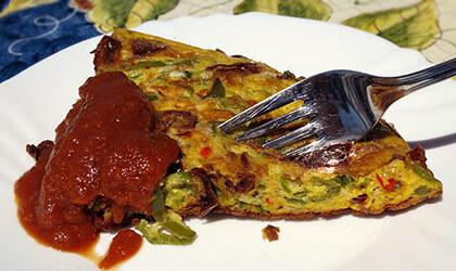 Frittata mit Friggitelli-Paprika
