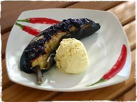 Grillbananen Piccante al Cioccolato