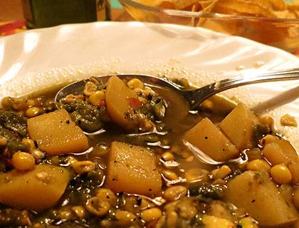 Roasted Poblano Potato Stew