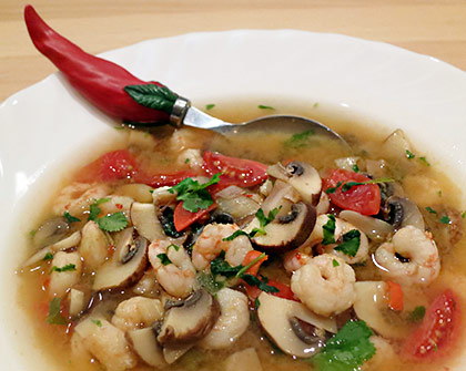 Tom Yam Gung (pikante Thai-Suppe)