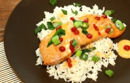Teriyaki Lachs mit Sriracha Cream Sauce