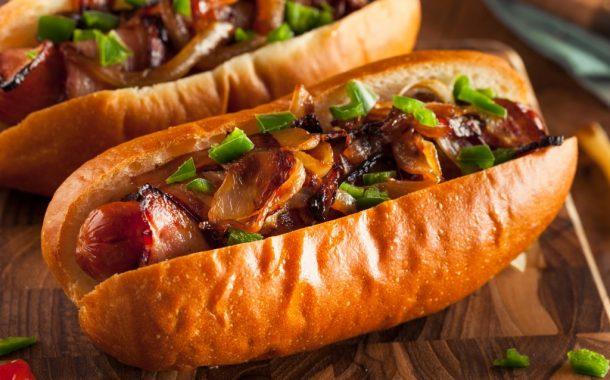 Smoky Chili-Bacon-Cheese Hot Dogs