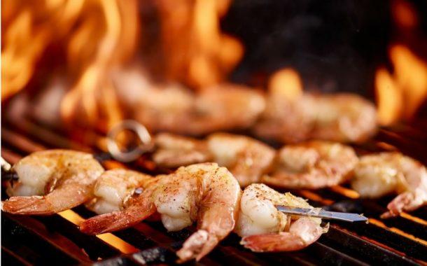 BBQ-Shrimp-Ananas-Spieße