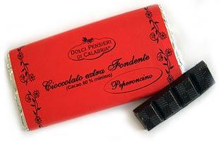 Cioccolato extra fondente (kalabrische Chili-Schokolade)