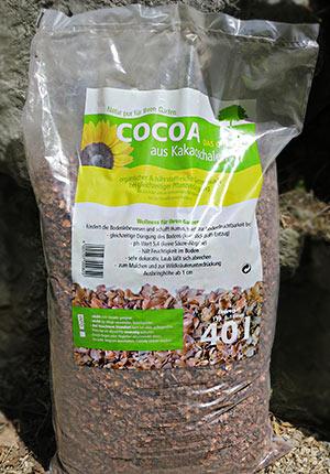 Kakao-Mulch im 40-Liter-Sack