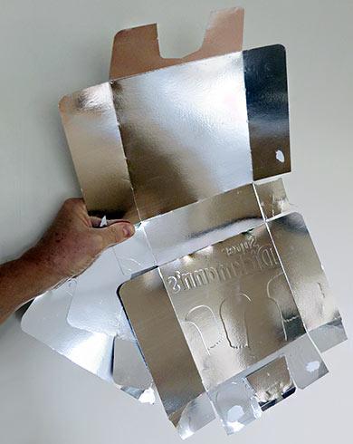 Reflektor-Material aus der Schokokuss-Box