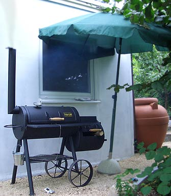 Barbecue Smoker in Aktion