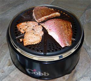 Fisch auf dem Cobb Grill