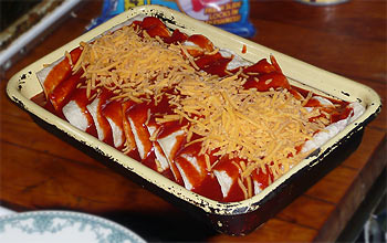 Enchiladas vor dem Überbacken