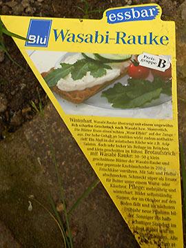 Wasabi Schild Foto M. Braun