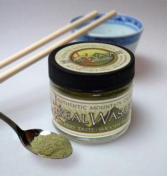 Echter Wasabi, getrocknet und gemahlen