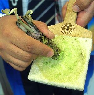 Frisch geriebener Wasabi