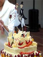 Chilige Hochzeitstorte
