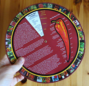 Paul Boslands Chile Pepper Flavor Wheel