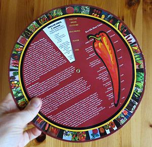 Paul Boslands Chile Pepper Flavor Wheel