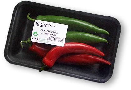 Supermarkt-Chilis vom Cayenne-Typ