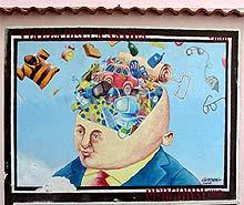 Eines von vielen Wandbildern (Murales) in Diamante