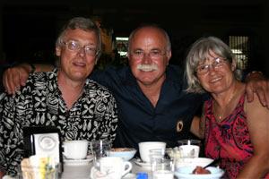 Von links: Harald, Niní und Renate
