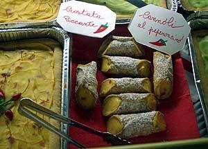 Crostata piccante und Cannoli al peperoncino