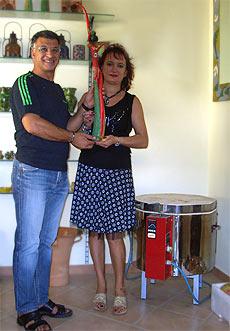 Giuseppe Ateniese und seine Frau Daniela