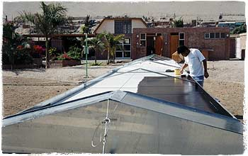 Aufbau des Solartrockners