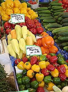 Paprika-Auswahl