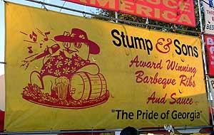 Kunst am Schwein: Barbecue Banner
