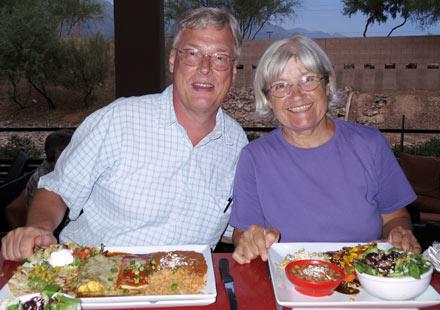 Harald und Renate bei El Charro in Tucson