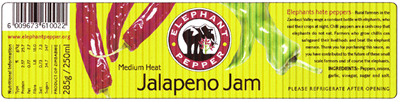 Chili-Marmeladen-Etikett