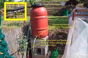 Automatische Bewässerung für das Chili Gewächshaus.