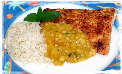 Cajun Salmon mit tropischer Salsa