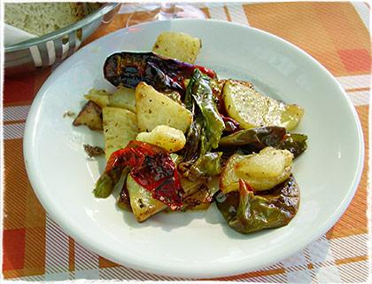 Friggitelli mit Kartoffeln