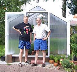 """""""Pope of Peppers"""" Dave DeWitt war begeistert vom Chili Gewächshaus."""