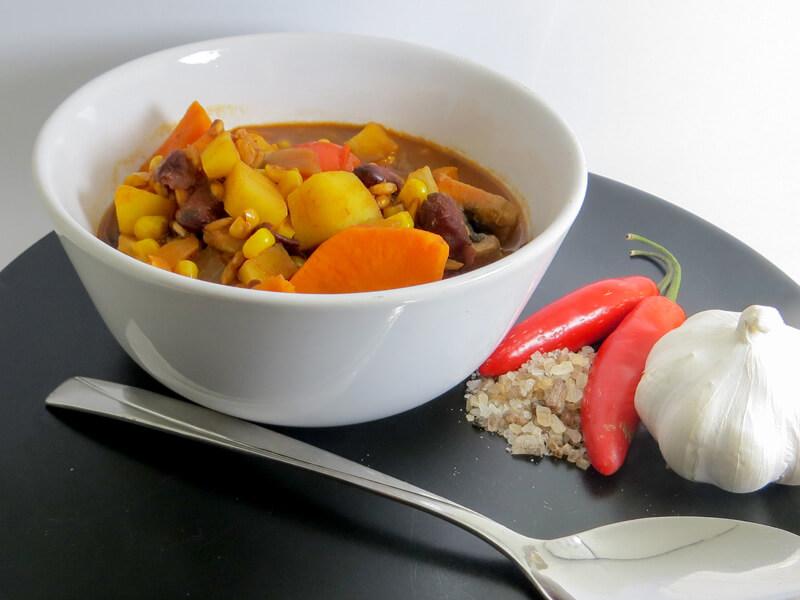 chili sin carne rezept christophs 1 2 3 csc vegetarisch sojafrei pepperworld. Black Bedroom Furniture Sets. Home Design Ideas