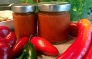 Scharfe Sauce - mit Apfel-Chili, mittelscharf