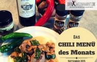 Medaillons follow on </br>Lachs-Shishito-Concassé   -</br> CHILI MENÜ DES MONATS