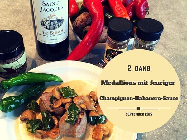 Medaillons mit Champignon-Habanero-Sauce