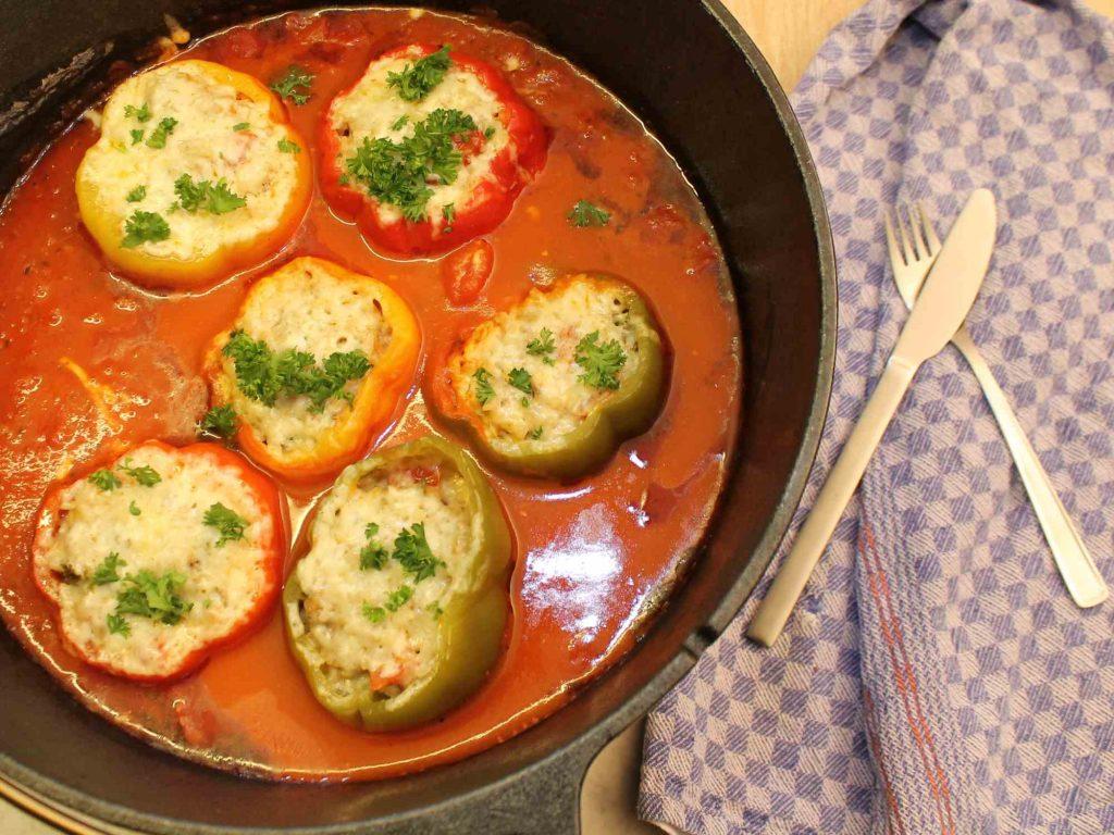Dutch Oven Rezept: Gefüllte Paprika