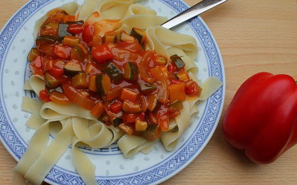 Zucchini-Paprika-Gemüse