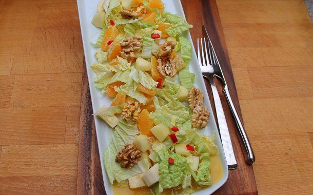 Fruchtig scharfer Wintersalat