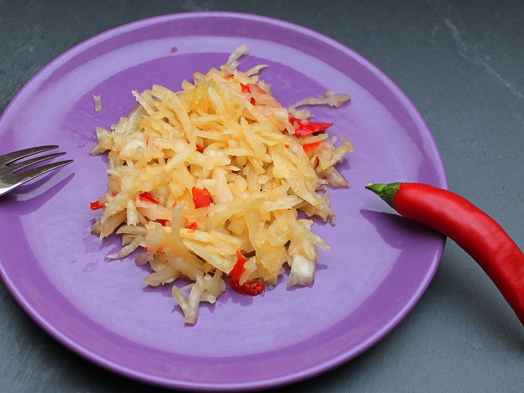 Scharfer Krautsalat